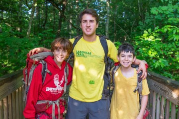 counselor-campers-hike