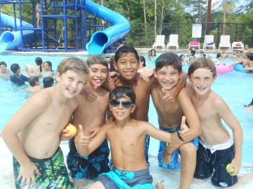 six boys at halpern pool